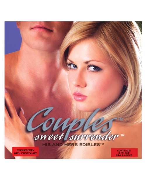 Kingman Industries LLC Couples Sweet Surrender His & Her Edible Undies - 2 pc Set Strawberry w/Chocolate - EDO-7340S at Sears.com